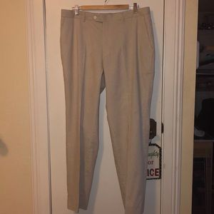 NWT Alan Flusser tan and white pants size 36/30